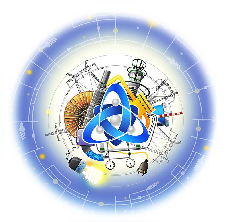 Иллюстрация ко Дню энергетика для Калининской АЭС 2015