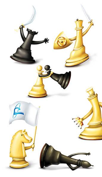 Персонажи для шахматного турнира Калининской АЭС