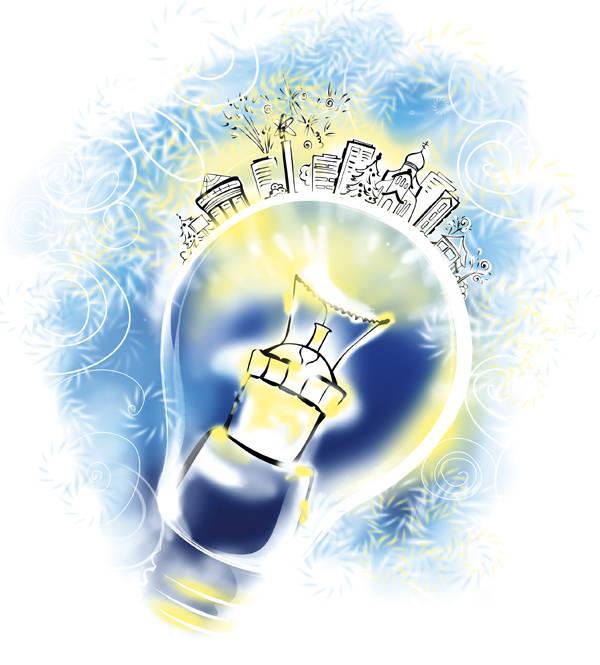 Иллюстрация ко Дню энергетика для Калининской АЭС 2013