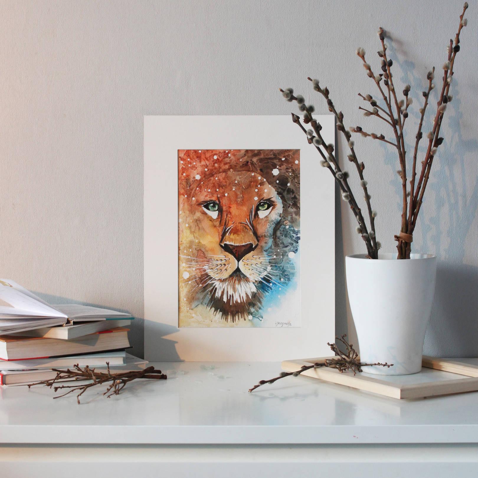 Fantastic watercolor animals