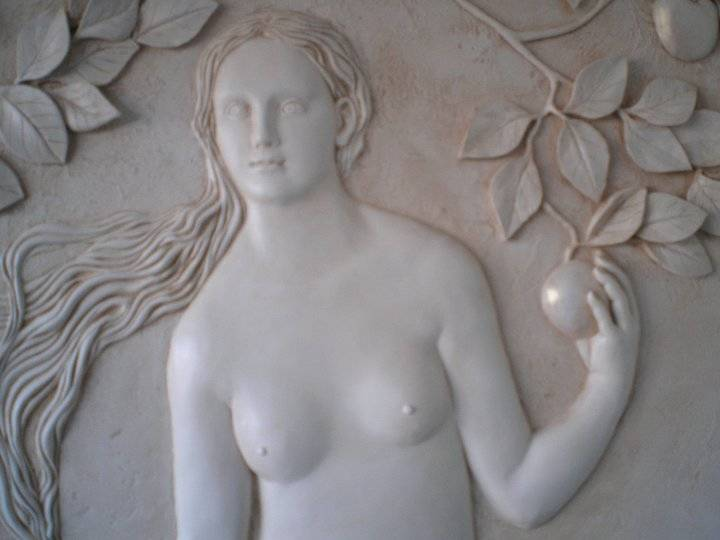 the sculptures and bas-reliefs that I make with their own hands