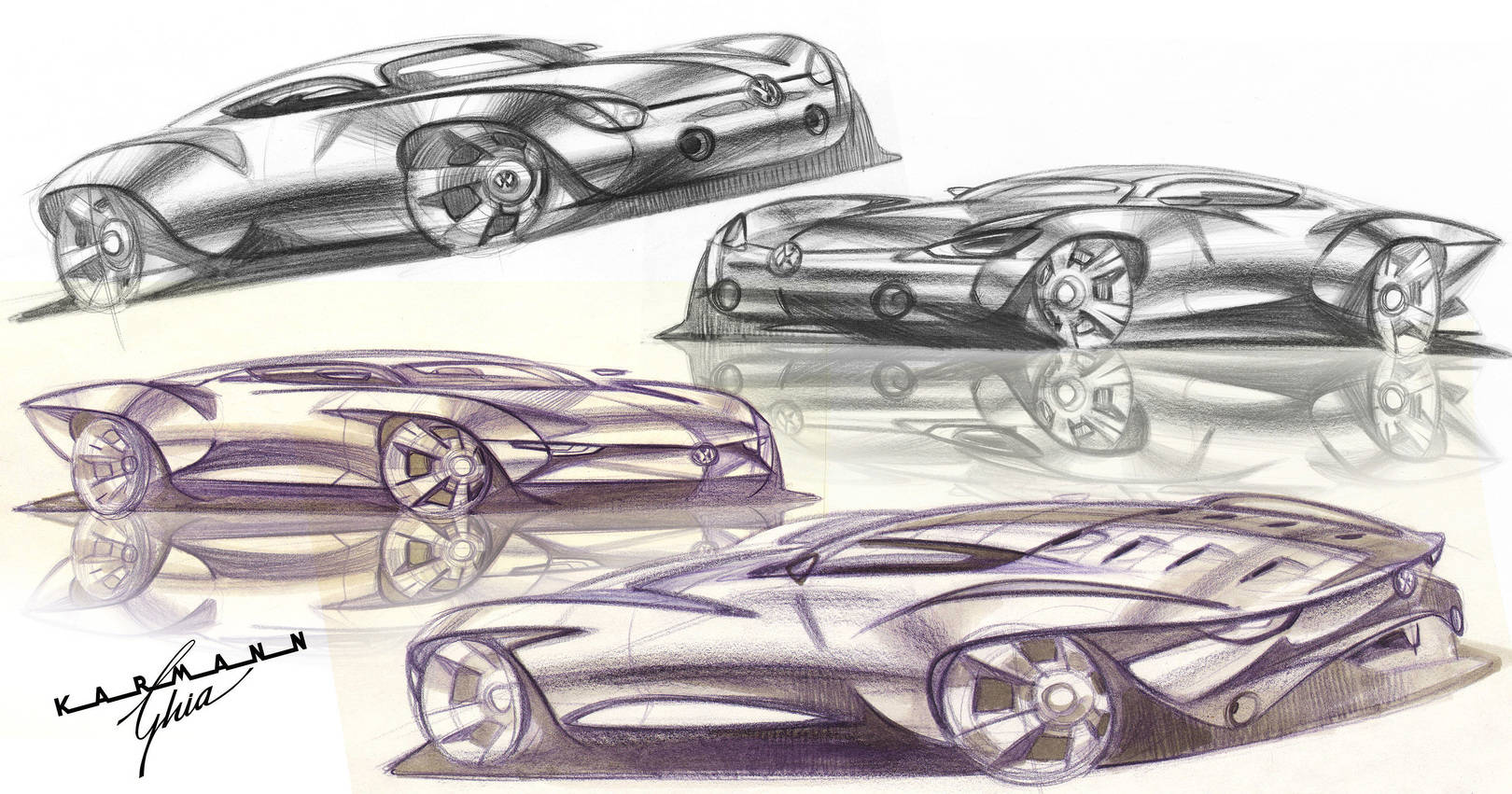 Various automotive sketches