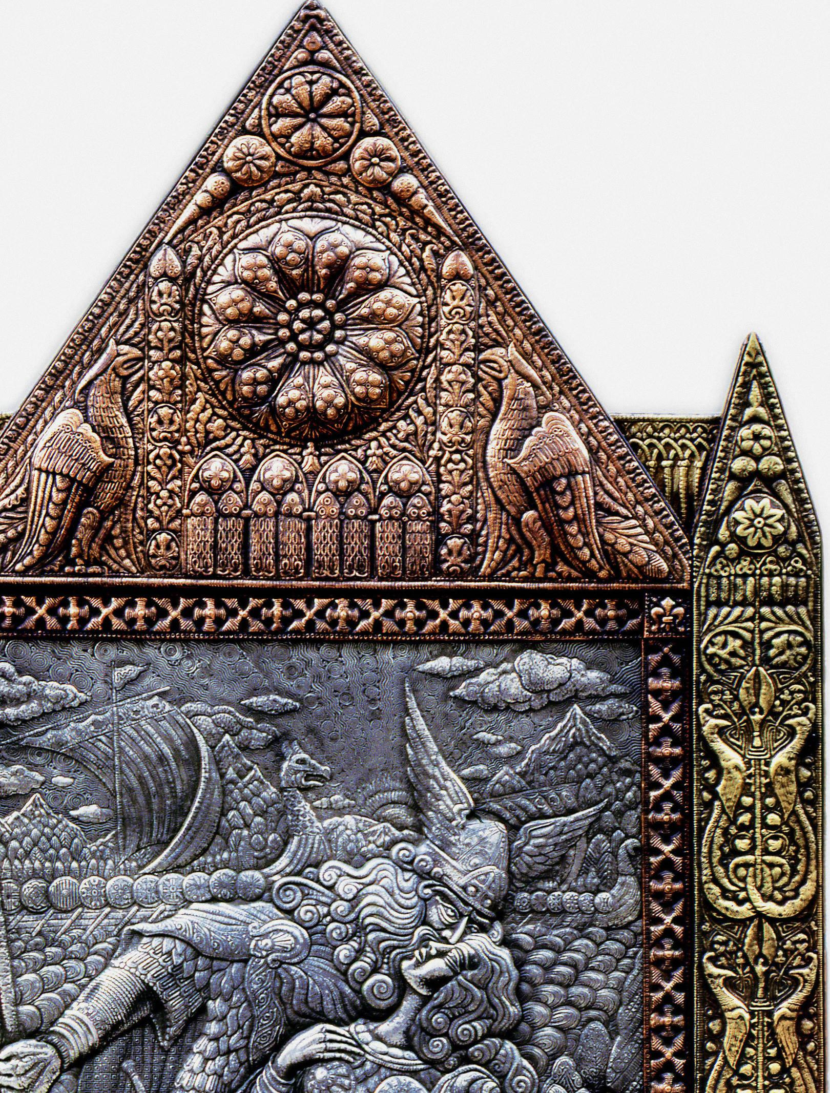 Викинг и валькирия (фрагмент)