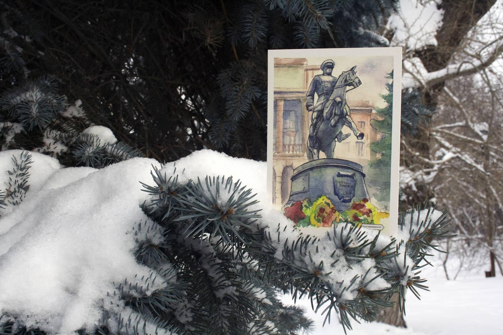Памятник маршалу Жукову Екатеринбург, пр. Ленина, д. 71  Автор: Хорошева А.А.  The monument to marshal Zhukov Ekaterinburg, Lenin Avenue, 71  Artist: Horosheva A.A.
