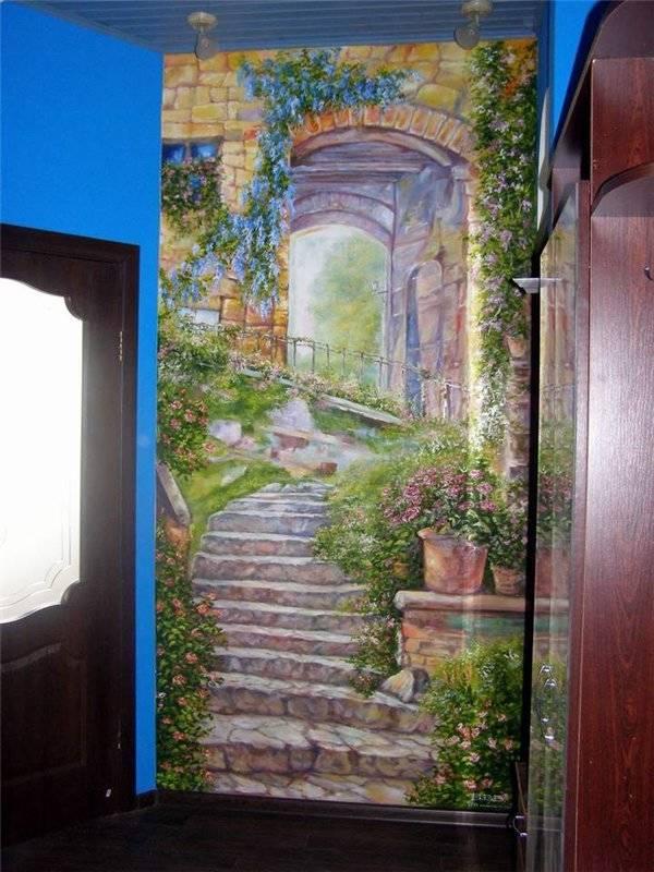 Роспись стен всего дрма,стена 5-я.стена на лестничной площадке 3-го этажа,Киев,Осокорки