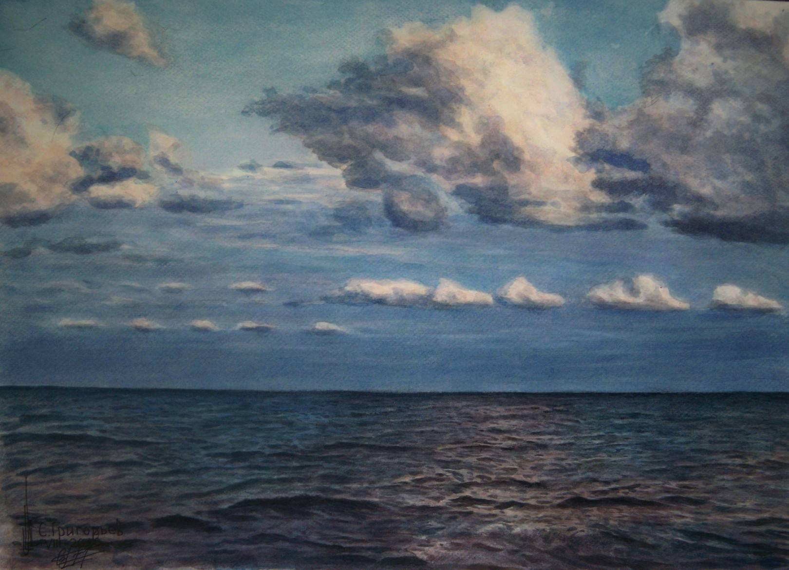 WATERCOLOUR BY SERGII GRYGORIEV. SEA VIEW