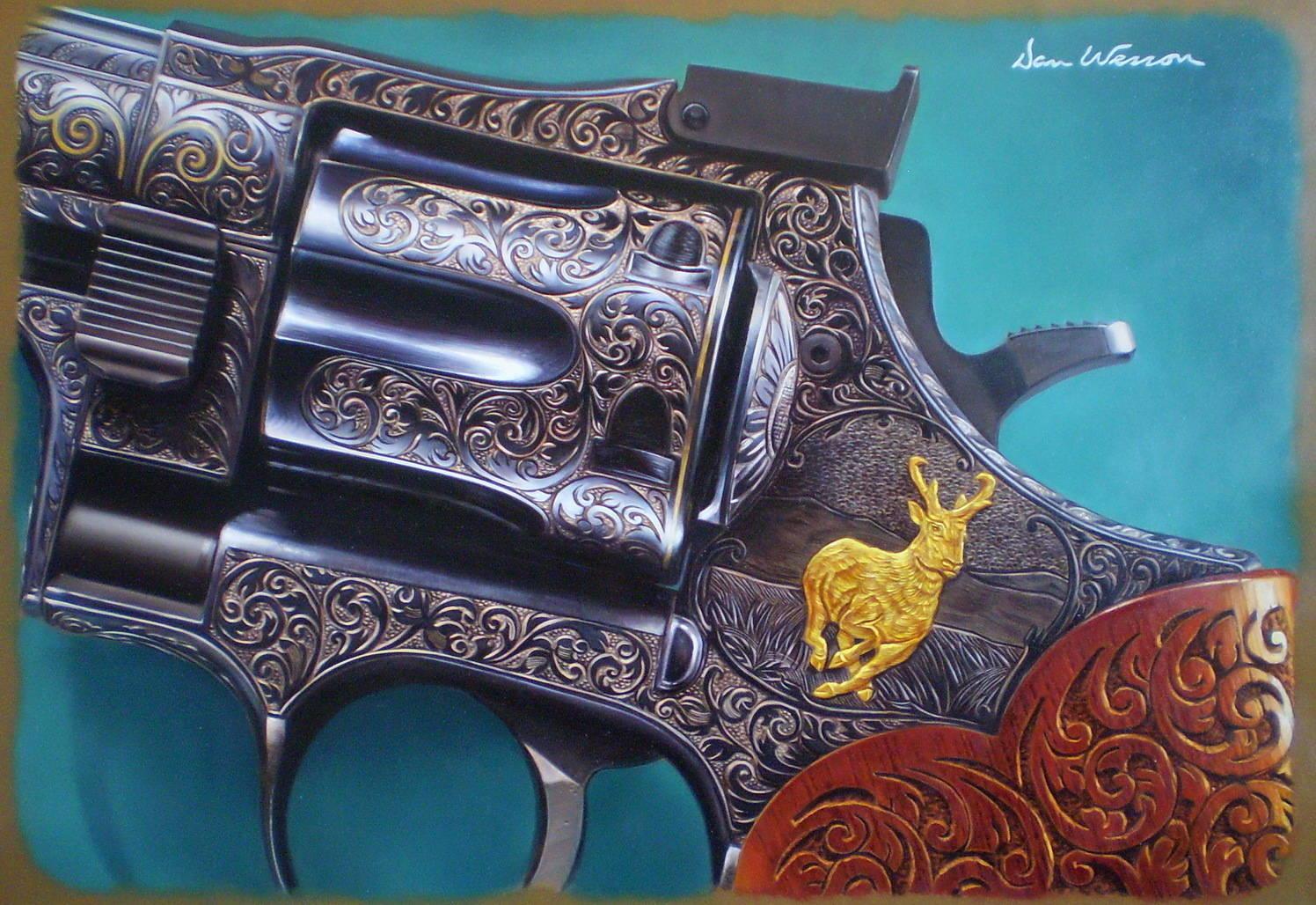 Dan Wesson кожа, масло, 70х50