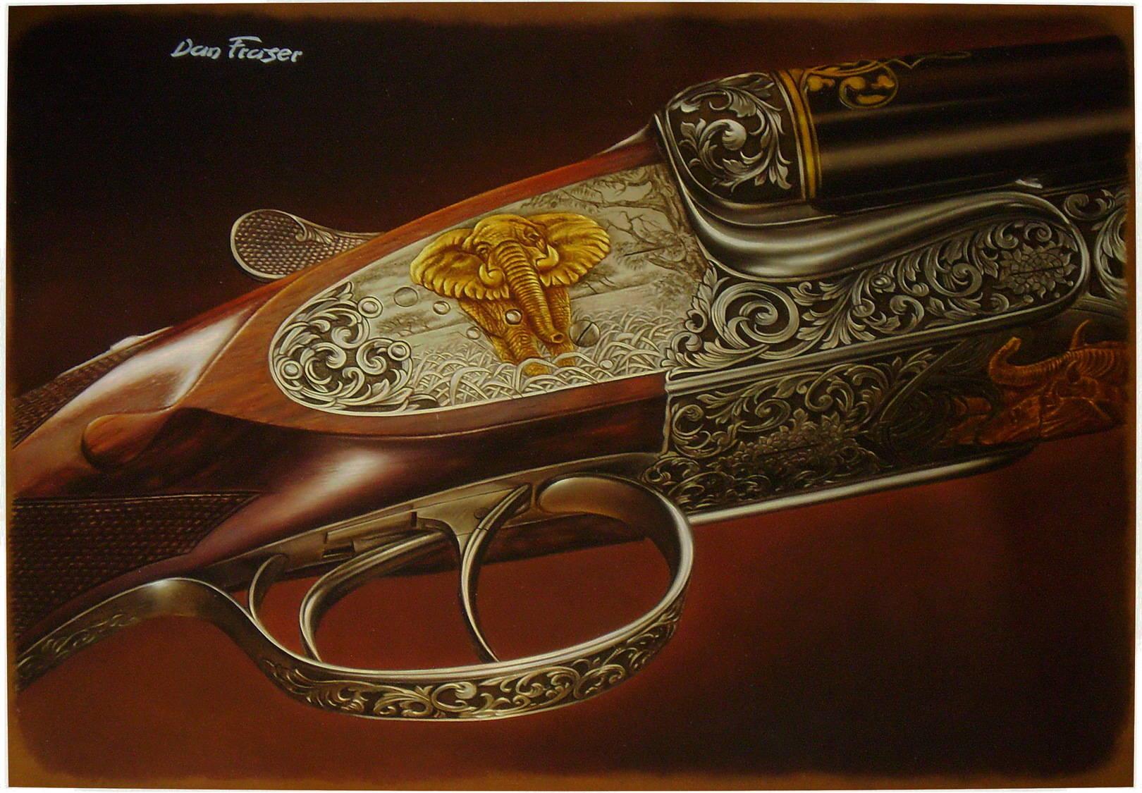 Dan Fraser кожа, масло, 70х50
