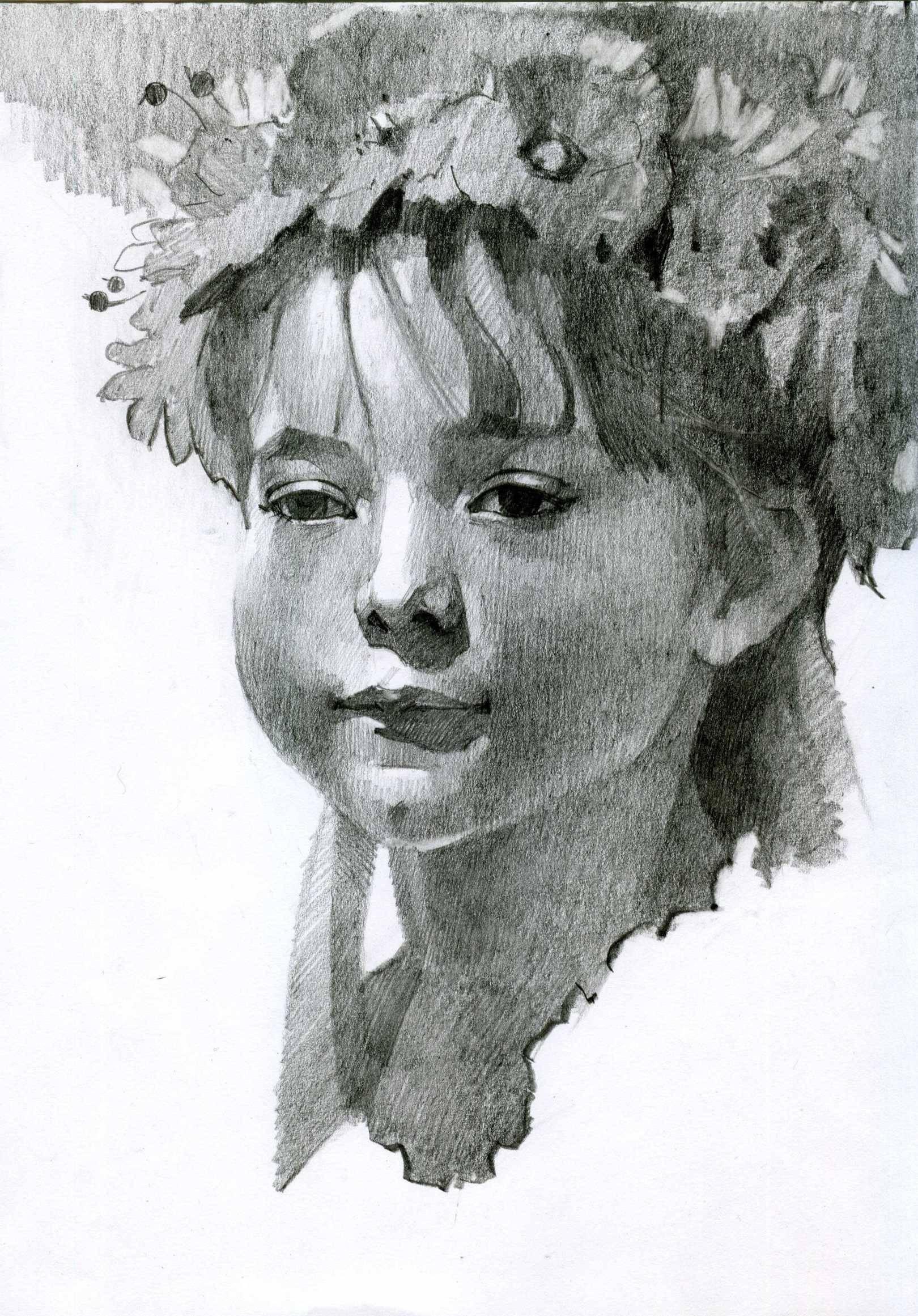 Портрет карандашный