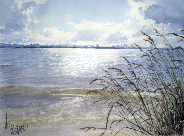 WATERCOLOUR BY SERGII GRYGORIEV. LANDSCAPE