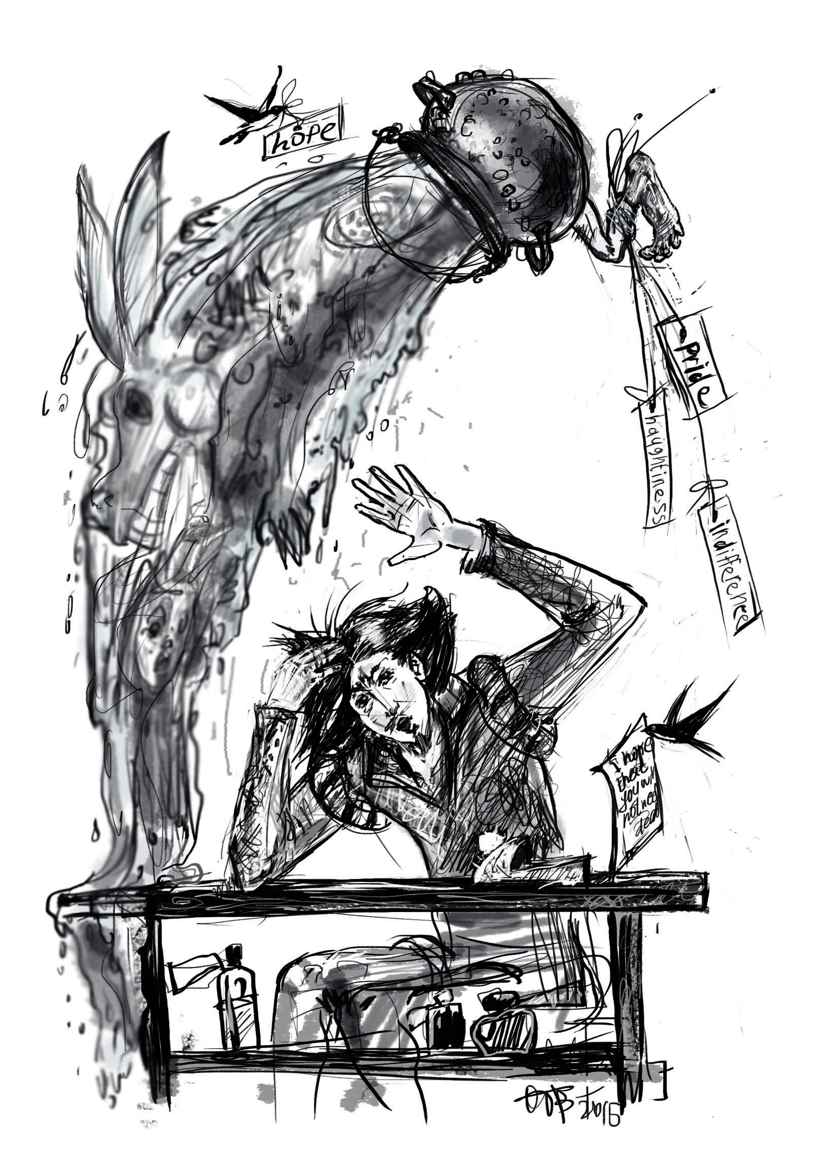 """Иллюстрации """"Сказки Барда Бидля"""""""
