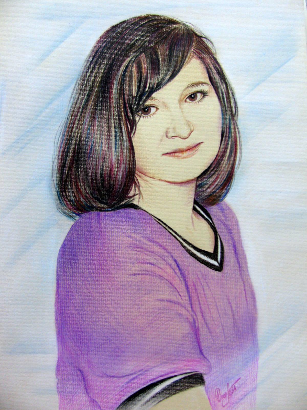 Маняша, портрет, пастель