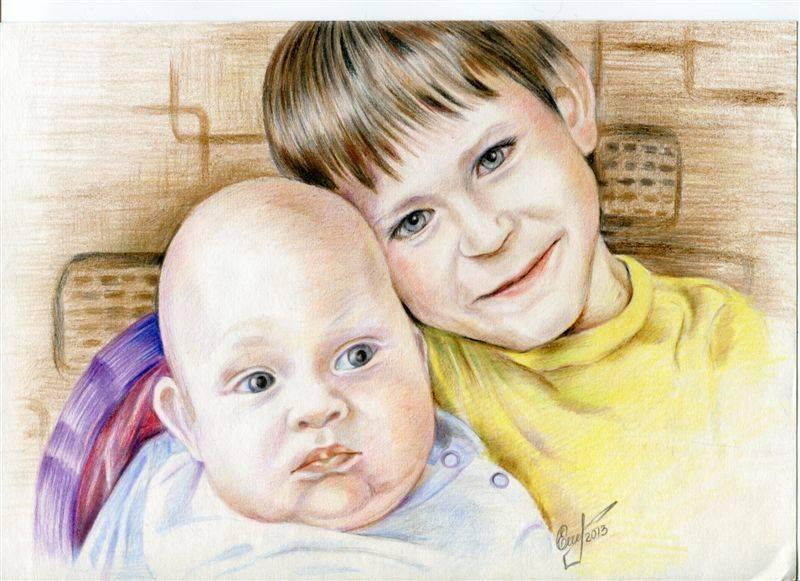 Дети мои, рисунок
