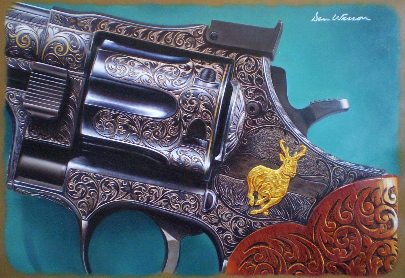 Dan Wesson кожа, масло, 50х70