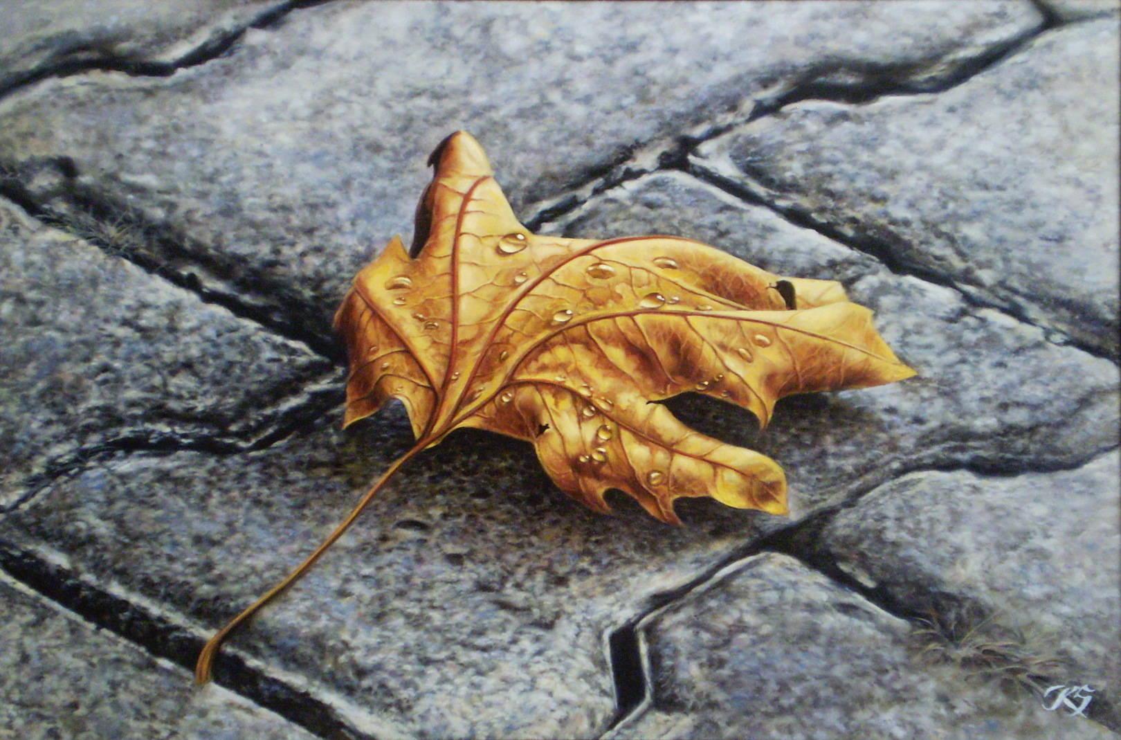 Кленовый лист холст, масло, 40х60