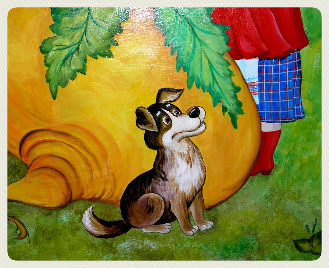 "Роспись стены по мотивам сказки "" Репка"". ( Painting of wall on reasons of fairy-tale "" Turnip"".)"