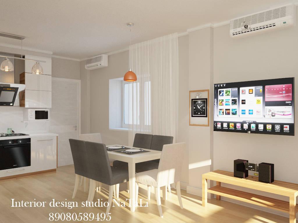 Дизайн интерьера гостиной в скандинавском стиле