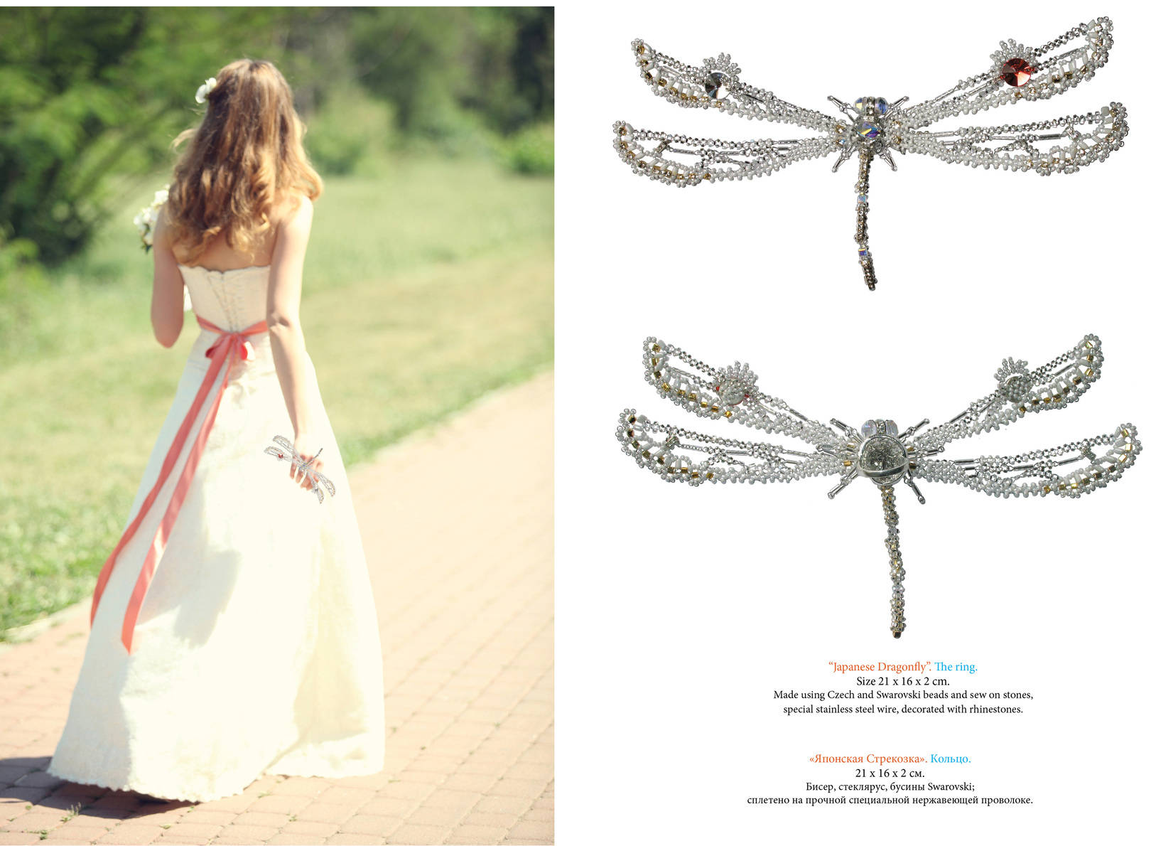 Japanese Dragonfly. The ring. Size: 210×160 mm